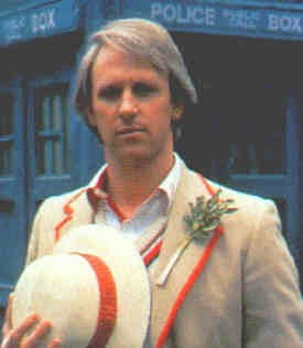 Peter Davidson as the 4th Doctor